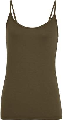 Reiss Samellia - Jersey Cami Top in Dark Green