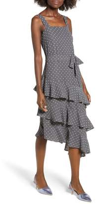 Leith Ruffle Midi Dress