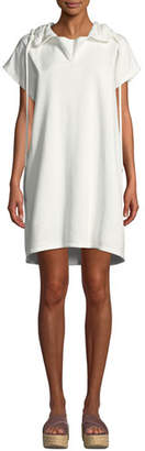 See by Chloe Short-Sleeve Hooded Shift Dress