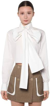 Fendi CROPPED LIGHT COTTON TAFFETA SHIRT