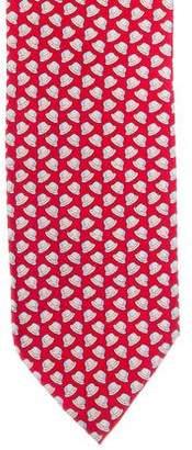Hermes Hat Print Silk Tie