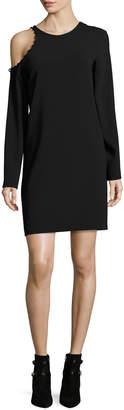 IRO Breen Cold-Shoulder Long-Sleeve Crepe Dress