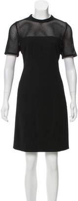 Akris Punto Mesh-Paneled Wool Dress