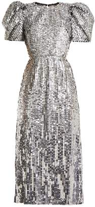Carolina Herrera Open-back sequined tulle gown
