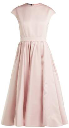 Rochas - Gathered Waist Satin Dress - Womens - Light Pink