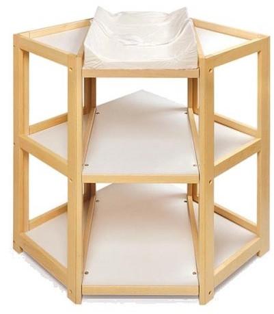 Badger BasketBadger Basket Natural Diaper Corner Baby Changing Table