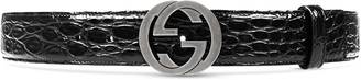 Crocodile belt with interlocking G $360 thestylecure.com