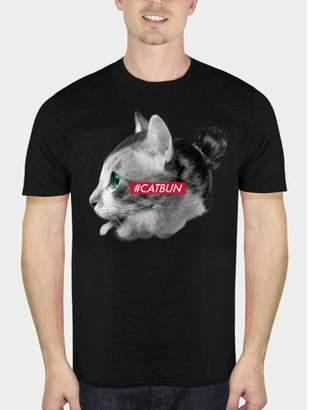 Pop Culture Cat Bun Man Bun Funny Cat Big Mens Graphic T-shirt