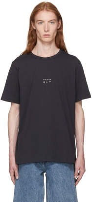 Our Legacy Black Good Water Embroidery New Box T-Shirt