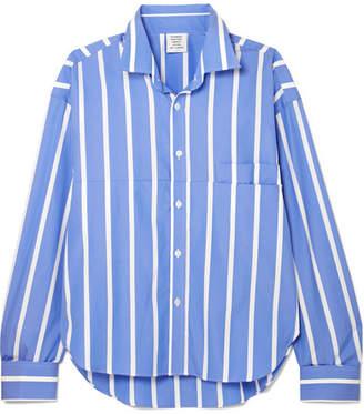 Vetements Oversized Striped Cotton-poplin Shirt - Blue
