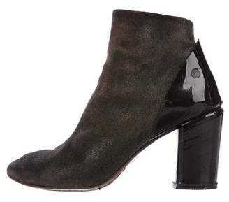 Marsèll Suede Round-Toe Ankle Boots