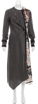 Yigal Azrouel Fringe Trimmed Silk Wrap Dress w/ Tags