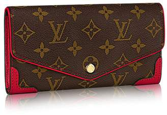 Louis Vuitton Authentic Monogram Canvas Sarah Wallet Retiro Article:M61184