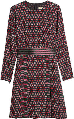 Burberry Domenica Printed Silk Dress