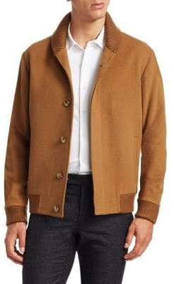 Saks Fifth Avenue MODERN Wool Bomber Jacket