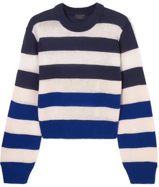 Rag & Bone Annika Striped Cashmere Sweater - Blue