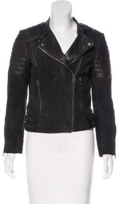 AllSaints Asymmetrical Leather Jacket