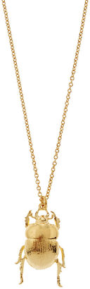 Alex Monroe Gold Plated Dor Beetle Necklace $205 thestylecure.com