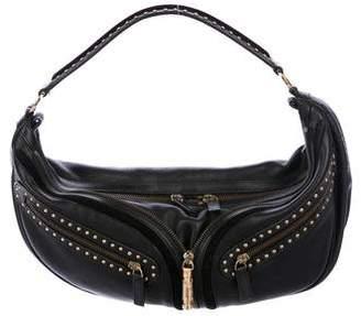 Versace Studded Leather Hobo