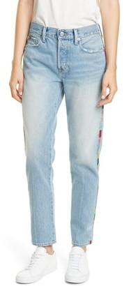 Polo Ralph Lauren Avery Logo Side Stripe Nonstretch Slim Boyfriend Jeans