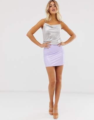 Asos Design DESIGN vinyl super mini skirt