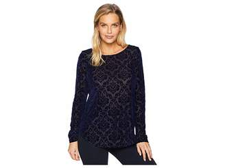 Karen Kane Burnout Velvet Shirttail Tee
