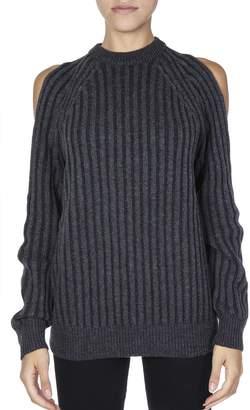 McQ Melange Wool Grey Cut-out Jumper