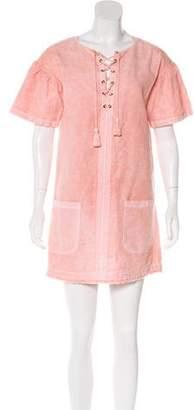 Ulla Johnson Short-Sleeve Mini Dress