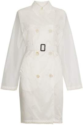 Prada transparent trench coat