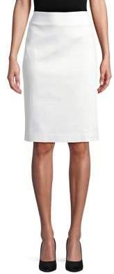 Lord & Taylor Petite Pique Pencil Skirt
