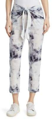 Majestic Filatures Tie-Dye Belted Linen Pants