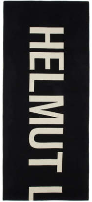 Helmut Lang Black and Off-White Oversized Scarf