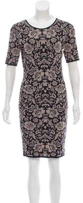 Torn By Ronny Kobo Short Sleeve Knee-Length Knit Dress w/ Tags