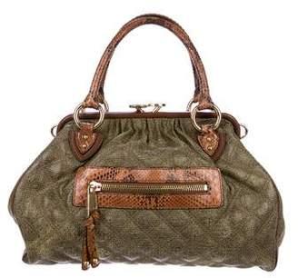 Marc Jacobs Snakeskin-Trimmed Stam Bag