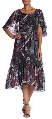 Taylor Elbow Sleeve Print Dress