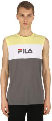 Logo Cotton Jersey Sleeveless T-Shirt