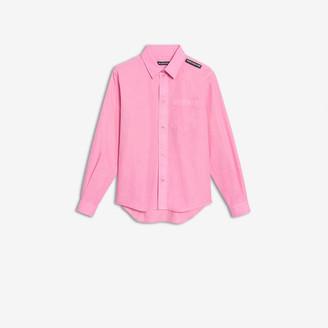 Balenciaga Shrunk Shirt in light pink cotton