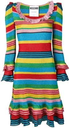 Moschino striped ruffle dress