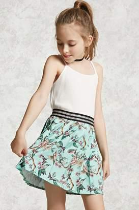 Forever 21 Girls Floral Pleat Skirt (Kids)