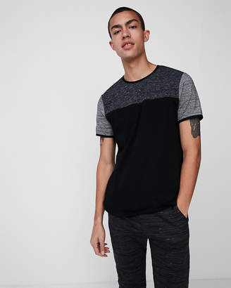 Express Marled Jersey Stretch Crew Neck Tee