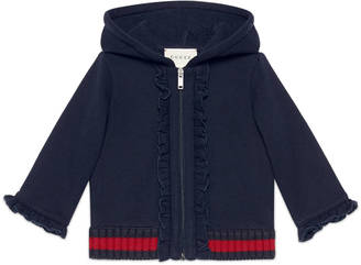 Baby hooded sweatshirt with Web $295 thestylecure.com