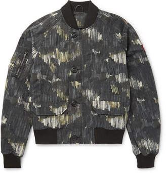 Canada Goose Faber Printed Canvas Bomber Jacket
