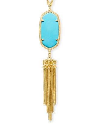 Kendra Scott Rayne Long Pendant Necklace in Gold