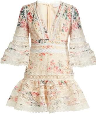 Zimmermann Laelia Diamond Flutter floral-print cotton dress