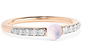 Pomellato M'ama Non M'ama 18-karat Rose Gold, Diamond And Moonstone Ring