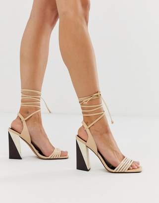 Hummer Asos Design ASOS DESIGN strappy block heeled sandals