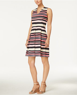 Charter Club Striped Fit & Flare Dress, Created for Macy's $89.50 thestylecure.com