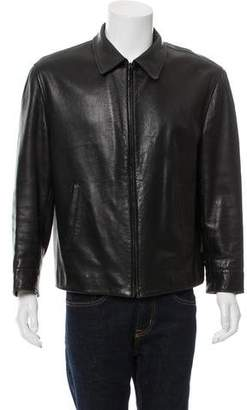 Gucci Wool-Lined Leather Jacket