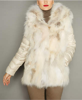 The Fur Vault Convertible Coyote Fur Jacket