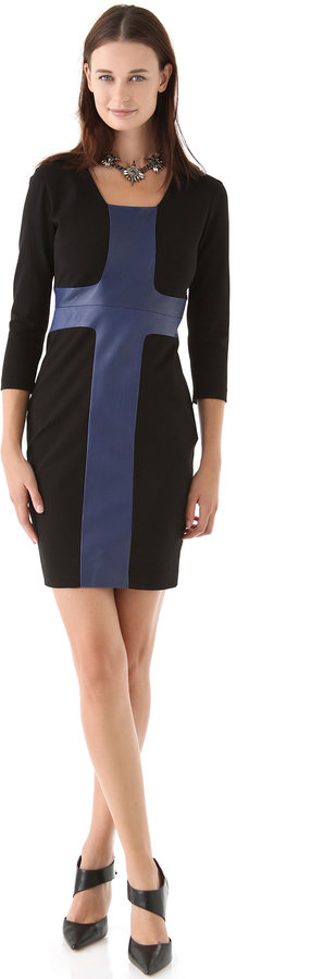 Robert rodriguez Fitted Moto Dress